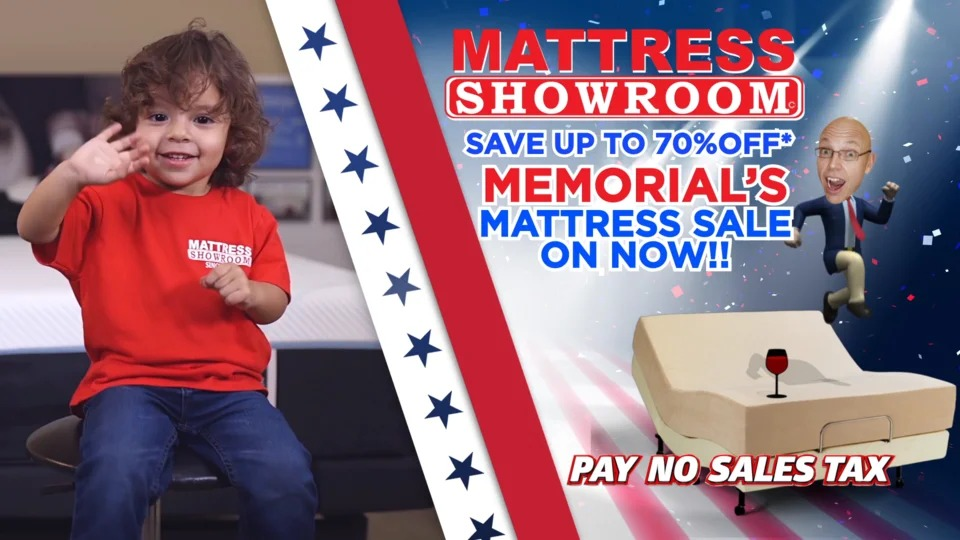 Mattress Showroom as seen on NBC